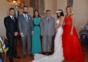 I colori della Pace di Luisa Lubrano _ foto ricordo con Assessore Mazzi e i prestigiosi ospiti