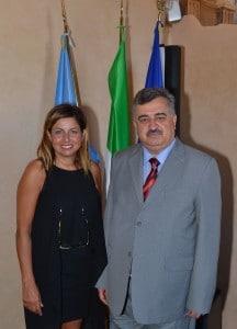 Lisa Benardini con l'Ambasciatore