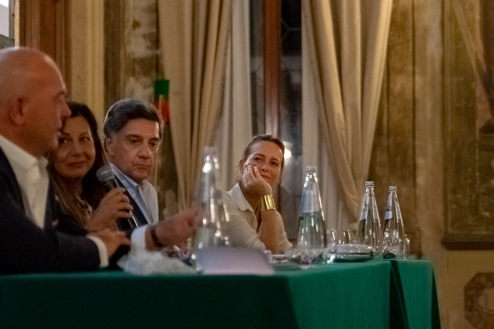 Da sx: Giuseppe Pedersoli - Lisa Bernardini - Marco Tullio Barboni - Diamante Pedersoli